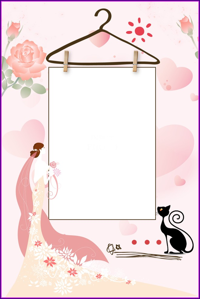 Wedding Invitation Background Hd Pink
