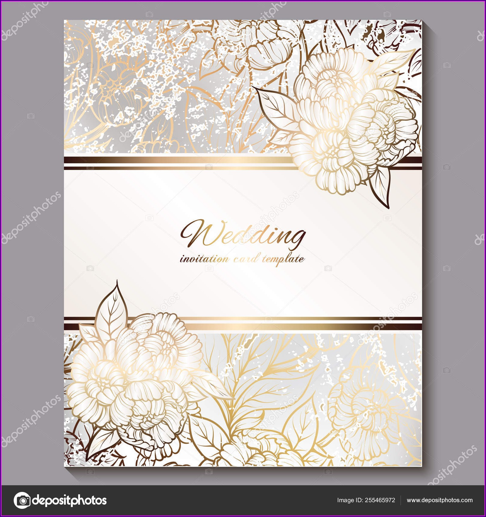 Wedding Invitation Background White And Gold