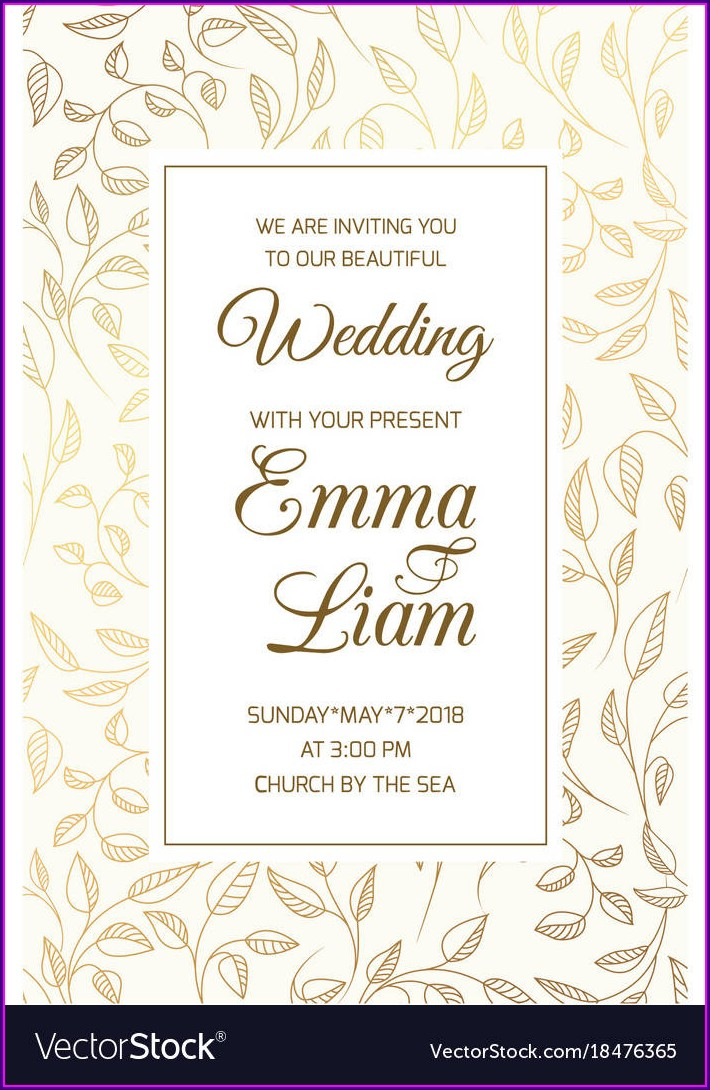 Wedding Invitation Card Border Design Free Download