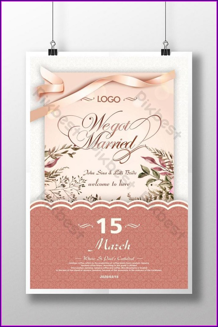 Wedding Invitation Design Psd Free Download