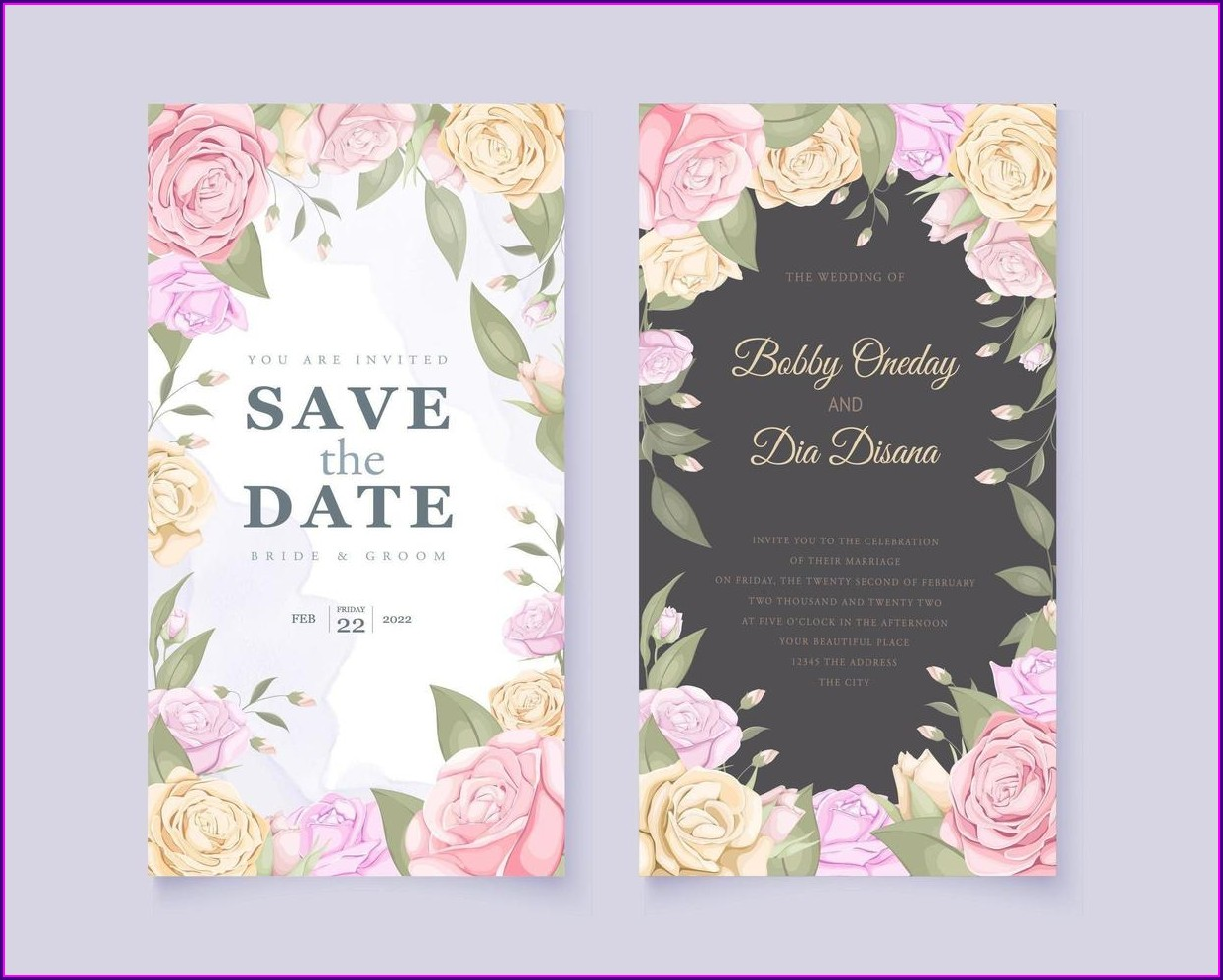 Wedding Invitation Design Template Free Download