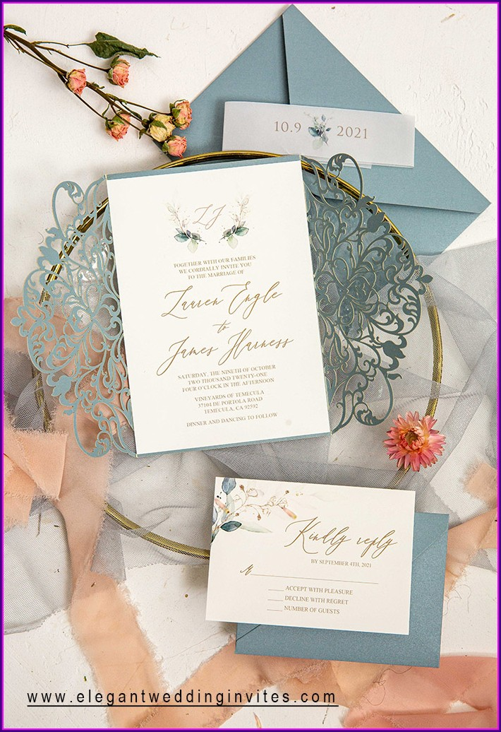 Wedding Invitation Ideas Dusty Blue