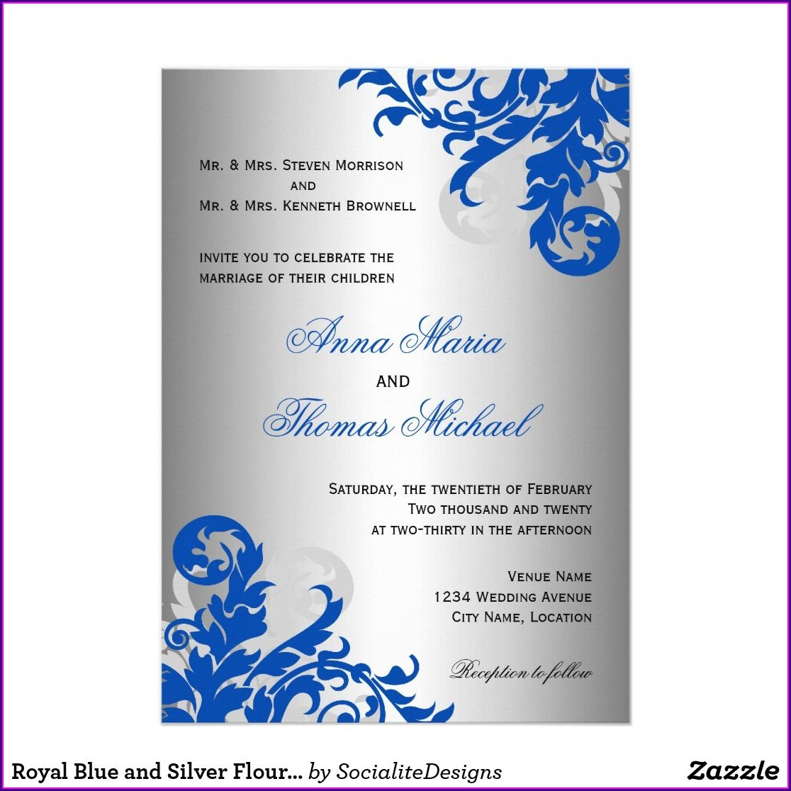 Wedding Invitation Ideas Royal Blue
