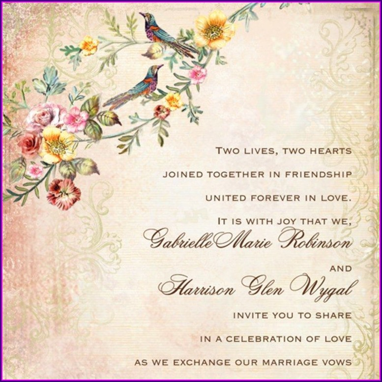 Wedding Invitation Verbiage Etiquette