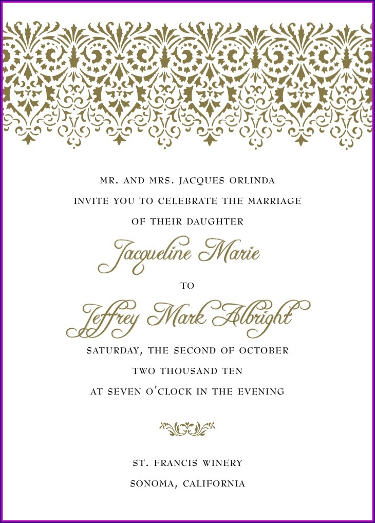 Wedding Invitation Verbiage For Second Marriages