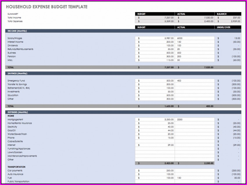 Weekly Expense Report Format