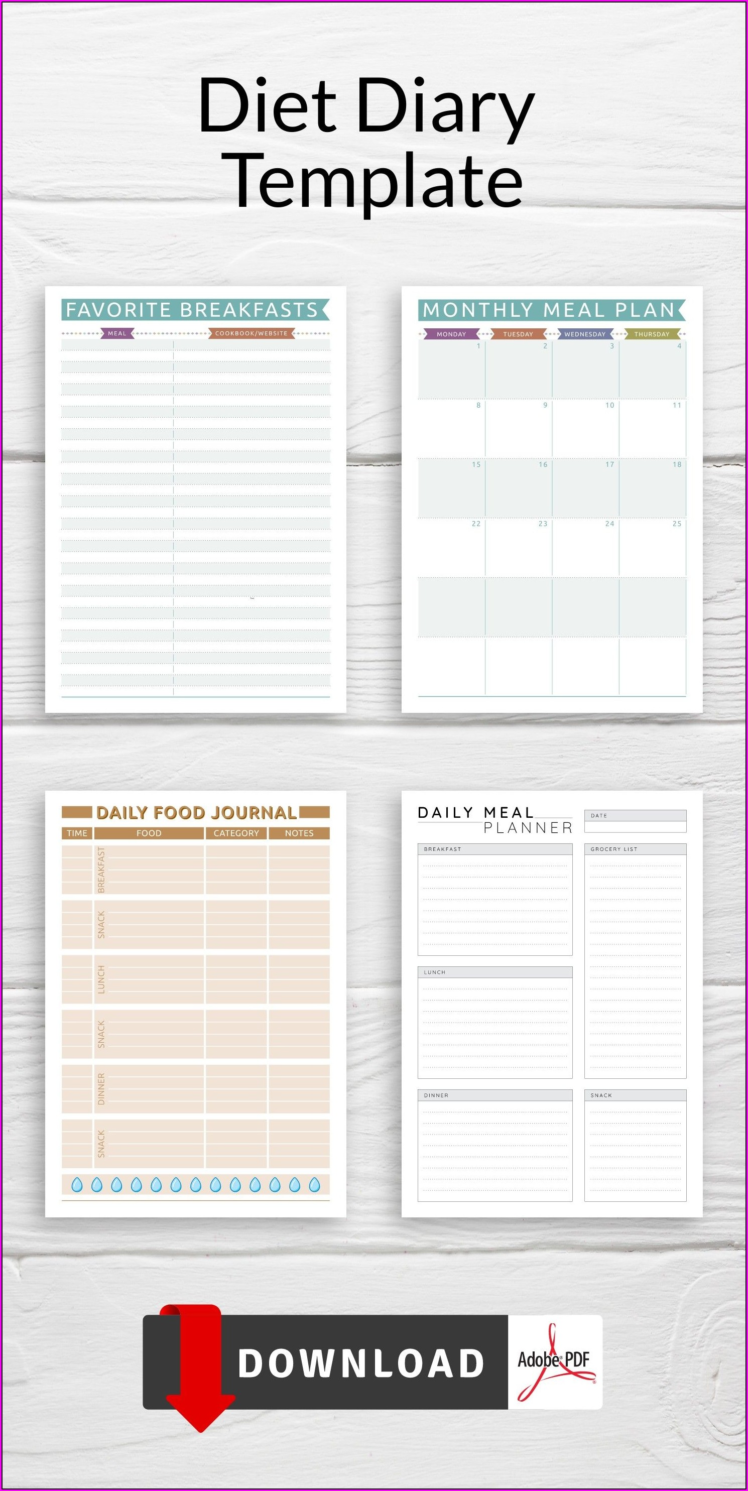 Weekly Food Menu Planner Template