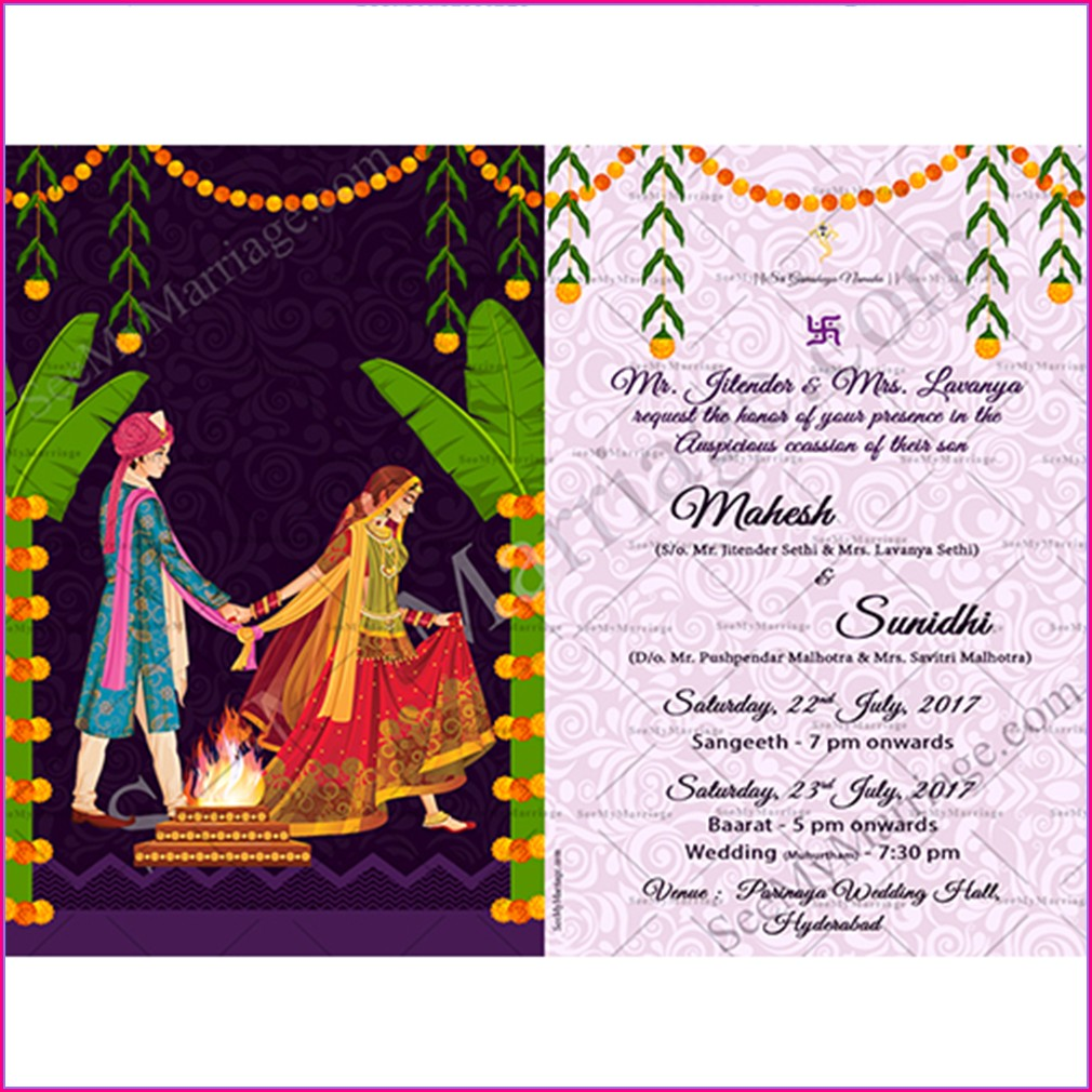 Whatsapp Hindu Wedding Invitation Card Template