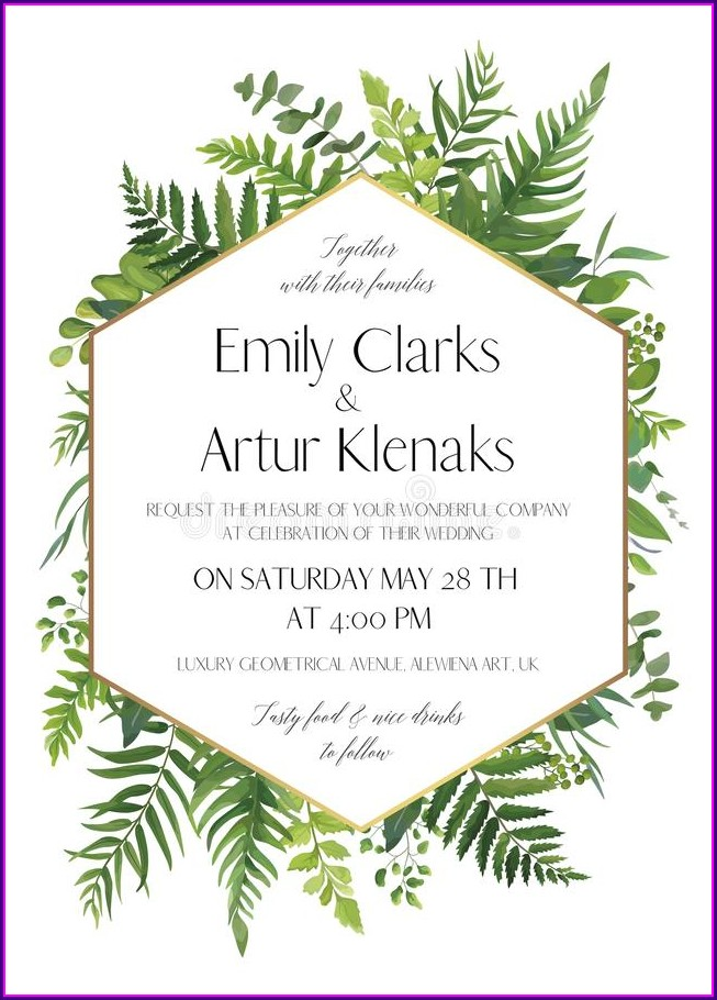 White Background Wedding Invitation Card Design