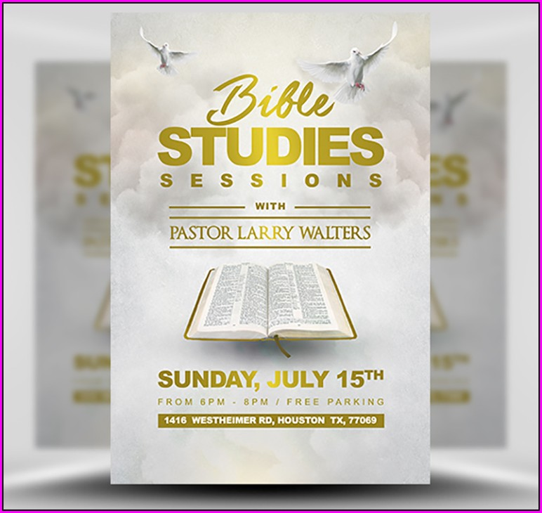 Womens Bible Study Flyer Template Free