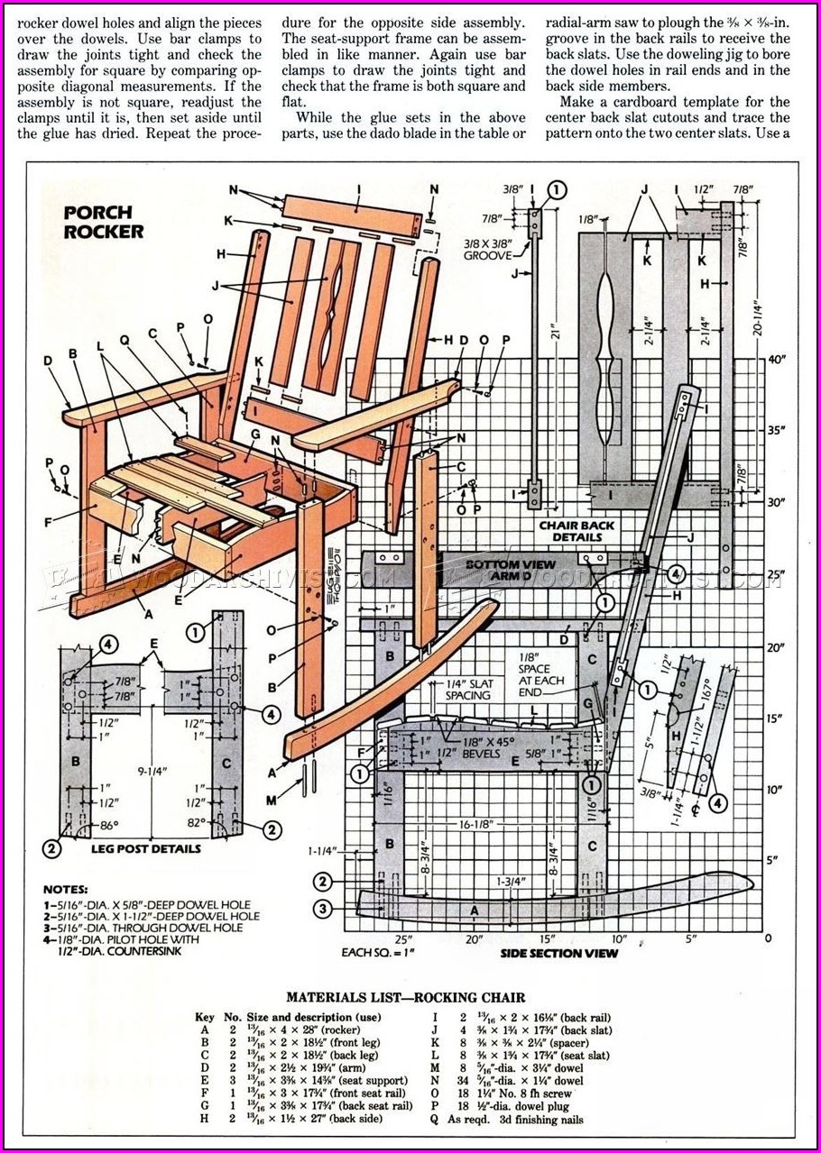 Wood Rocking Chair Plans Free