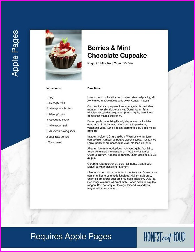 Word Recipe Template For Mac